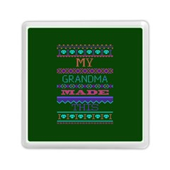 My Grandma Made This Ugly Holiday Green Background Memory Card Reader (Square)