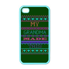 My Grandma Made This Ugly Holiday Green Background Apple iPhone 4 Case (Color)