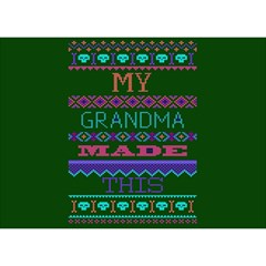 My Grandma Made This Ugly Holiday Green Background Birthday Cake 3D Greeting Card (7x5)
