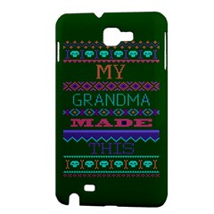 My Grandma Made This Ugly Holiday Green Background Samsung Galaxy Note 1 Hardshell Case