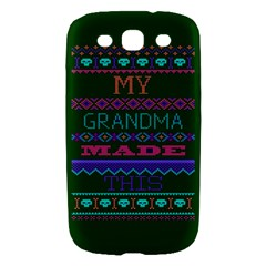 My Grandma Made This Ugly Holiday Green Background Samsung Galaxy S III Hardshell Case