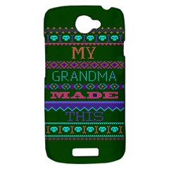 My Grandma Made This Ugly Holiday Green Background HTC One S Hardshell Case