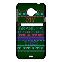 My Grandma Made This Ugly Holiday Green Background HTC Evo 4G LTE Hardshell Case
