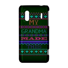 My Grandma Made This Ugly Holiday Green Background HTC Evo Design 4G/ Hero S Hardshell Case