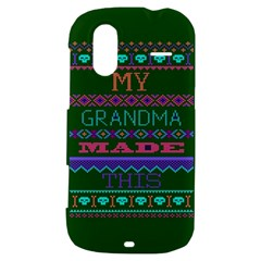 My Grandma Made This Ugly Holiday Green Background HTC Amaze 4G Hardshell Case