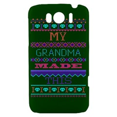 My Grandma Made This Ugly Holiday Green Background HTC Sensation XL Hardshell Case