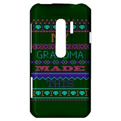 My Grandma Made This Ugly Holiday Green Background HTC Evo 3D Hardshell Case