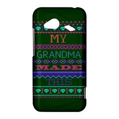 My Grandma Made This Ugly Holiday Green Background HTC Droid Incredible 4G LTE Hardshell Case