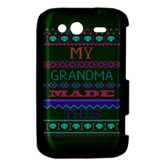 My Grandma Made This Ugly Holiday Green Background HTC Wildfire S A510e Hardshell Case