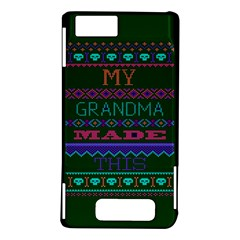 My Grandma Made This Ugly Holiday Green Background Motorola DROID X2