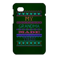 My Grandma Made This Ugly Holiday Green Background Samsung Galaxy Tab 7  P1000 Hardshell Case