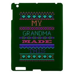 My Grandma Made This Ugly Holiday Green Background Apple iPad 3/4 Hardshell Case