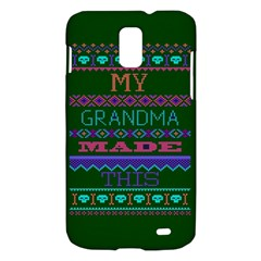 My Grandma Made This Ugly Holiday Green Background Samsung Galaxy S II Skyrocket Hardshell Case