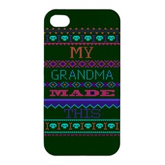 My Grandma Made This Ugly Holiday Green Background Apple iPhone 4/4S Premium Hardshell Case