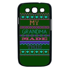 My Grandma Made This Ugly Holiday Green Background Samsung Galaxy S III Case (Black)
