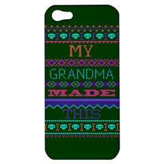 My Grandma Made This Ugly Holiday Green Background Apple iPhone 5 Hardshell Case
