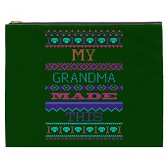 My Grandma Made This Ugly Holiday Green Background Cosmetic Bag (XXXL)