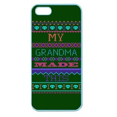 My Grandma Made This Ugly Holiday Green Background Apple Seamless iPhone 5 Case (Color)