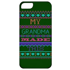 My Grandma Made This Ugly Holiday Green Background Apple iPhone 5 Classic Hardshell Case