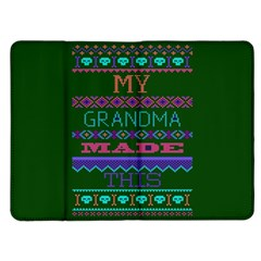 My Grandma Made This Ugly Holiday Green Background Kindle Fire (1st Gen) Flip Case