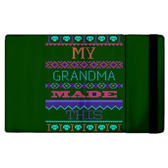 My Grandma Made This Ugly Holiday Green Background Apple iPad 2 Flip Case