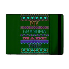 My Grandma Made This Ugly Holiday Green Background Apple iPad Mini Flip Case