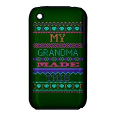 My Grandma Made This Ugly Holiday Green Background Apple iPhone 3G/3GS Hardshell Case (PC+Silicone)