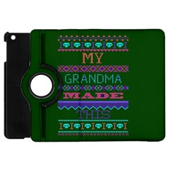 My Grandma Made This Ugly Holiday Green Background Apple iPad Mini Flip 360 Case