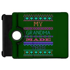 My Grandma Made This Ugly Holiday Green Background Kindle Fire HD Flip 360 Case