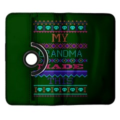 My Grandma Made This Ugly Holiday Green Background Samsung Galaxy Note II Flip 360 Case