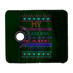 My Grandma Made This Ugly Holiday Green Background Samsung Galaxy S  III Flip 360 Case
