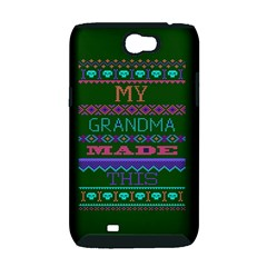 My Grandma Made This Ugly Holiday Green Background Samsung Galaxy Note 2 Hardshell Case (PC+Silicone)