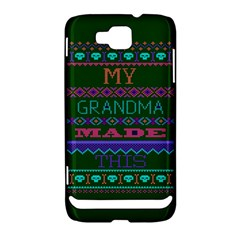 My Grandma Made This Ugly Holiday Green Background Samsung Ativ S i8750 Hardshell Case
