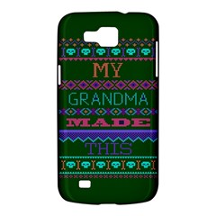 My Grandma Made This Ugly Holiday Green Background Samsung Galaxy Premier I9260 Hardshell Case