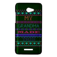 My Grandma Made This Ugly Holiday Green Background HTC Butterfly X920E Hardshell Case
