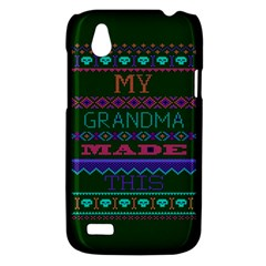 My Grandma Made This Ugly Holiday Green Background HTC Desire V (T328W) Hardshell Case