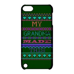My Grandma Made This Ugly Holiday Green Background Apple iPod Touch 5 Hardshell Case with Stand