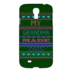 My Grandma Made This Ugly Holiday Green Background Samsung Galaxy S4 I9500/I9505 Hardshell Case