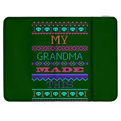 My Grandma Made This Ugly Holiday Green Background Samsung Galaxy Tab 7  P1000 Flip Case