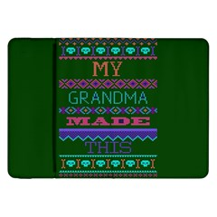 My Grandma Made This Ugly Holiday Green Background Samsung Galaxy Tab 8.9  P7300 Flip Case