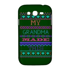 My Grandma Made This Ugly Holiday Green Background Samsung Galaxy Grand DUOS I9082 Hardshell Case