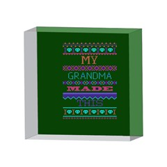My Grandma Made This Ugly Holiday Green Background 4 x 4  Acrylic Photo Blocks