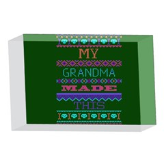 My Grandma Made This Ugly Holiday Green Background 4 x 6  Acrylic Photo Blocks