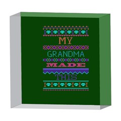 My Grandma Made This Ugly Holiday Green Background 5  x 5  Acrylic Photo Blocks