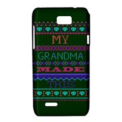 My Grandma Made This Ugly Holiday Green Background Motorola XT788