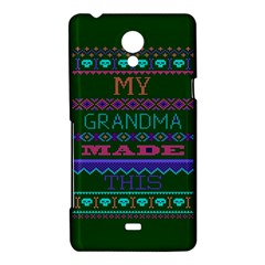 My Grandma Made This Ugly Holiday Green Background Sony Xperia T