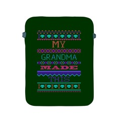 My Grandma Made This Ugly Holiday Green Background Apple iPad 2/3/4 Protective Soft Cases