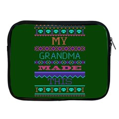 My Grandma Made This Ugly Holiday Green Background Apple iPad 2/3/4 Zipper Cases