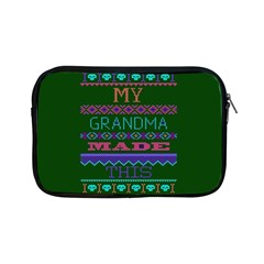 My Grandma Made This Ugly Holiday Green Background Apple iPad Mini Zipper Cases