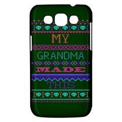 My Grandma Made This Ugly Holiday Green Background Samsung Galaxy Win I8550 Hardshell Case